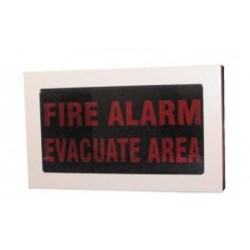 """Faceplate - """"FIRE ALARM - EVACUATE AREA"""""""