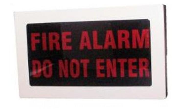 "Weatherproof Faceplate - ""FIRE ALARM - DO NOT ENTER"""