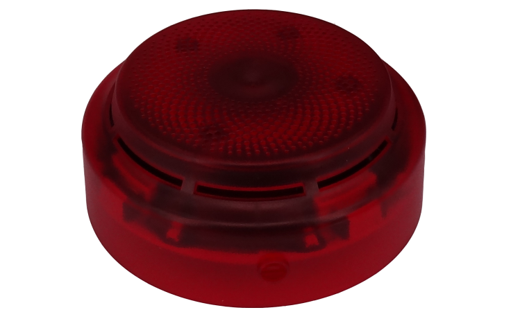 FlashScan Addressable Wall Mount Sounder & Strobe - Red