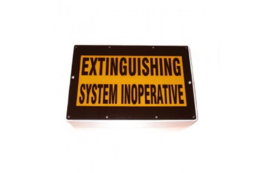 "Weatherproof Warning Sign - ""System Inoperative"" - Complete"