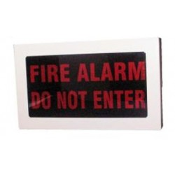"Weatherproof Faceplate - ""FIRE ALARM - DO NOT ENTER"""