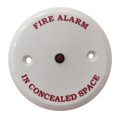 "Remote Indicator - ""Fire Alarm in Concealed Space"""