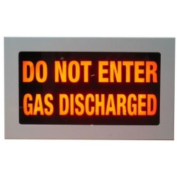 "Warning Sign - ""DO NOT ENTER GAS DISCHARGED"""