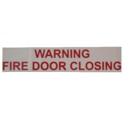 "Static Warning Sign - ""Warning Fire Door Closing"""